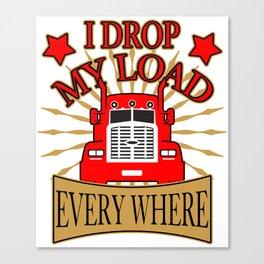 trucker gift truck long-distance truck lorry truck Canvas Print