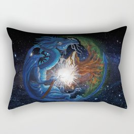 Dragon's Soul and the Tree of Life Rectangular Pillow