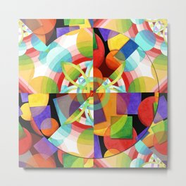 Prismatic Abstract Metal Print