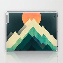 Ablaze on cold mountain Laptop & iPad Skin