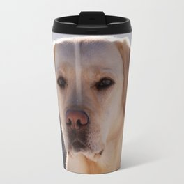 Portrait of A Golden Labrador Retriever Travel Mug