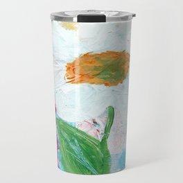 White Flower Travel Mug
