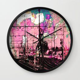All About the Journey, Abstract Grunge Train Wall Clock