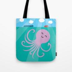Octopus Selfie Tote Bag