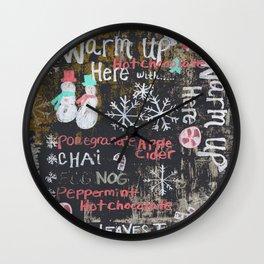 Egg Nog and Hot Chocolate Wall Clock
