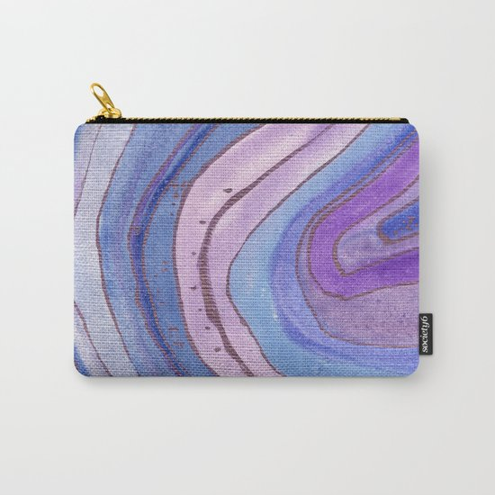 AGATE Inspired Watercolor Abstract 06 Carry-All Pouch