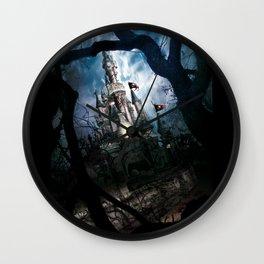 Dark Disney castle Wall Clock