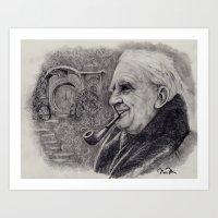 tolkien Art Prints featuring Tolkien by Nicole Bonita Miller