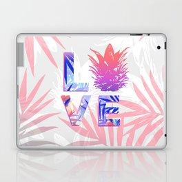 Love Pineapple Typography Tropical Boho Summer Vibes Laptop & iPad Skin