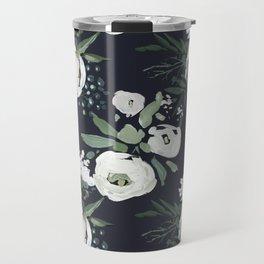 Rustic Floral Print Travel Mug
