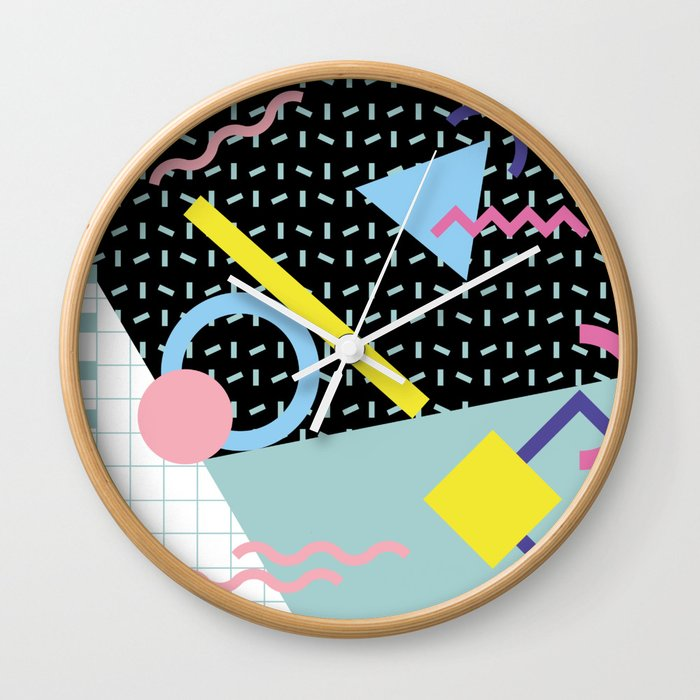 Memphis Pattern 6 - 80s - 90s - Retro Wall Clock
