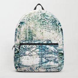 Subtle Blue Textured Acrylic Painting Backpack