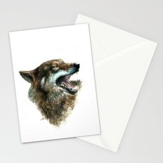 Wolf smile Stationery Cards