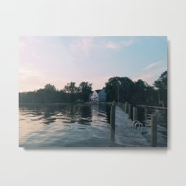 The Cottage at Dusk Metal Print