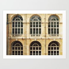 Château Windows Art Print