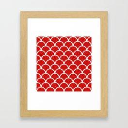 Large scallops in fabulous fiesta red Framed Art Print