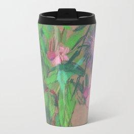 Thistle / Wildflowers, Pastel Sketch Travel Mug