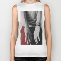 hands Biker Tanks featuring Hands by Teodora Roşca