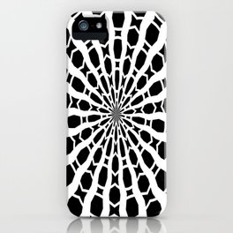 Black and White Bold Kaleidoscope iPhone Case