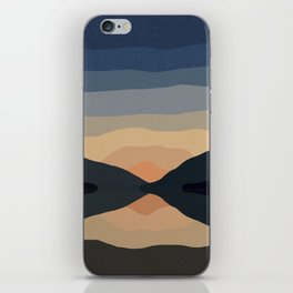 Sunset Mountain Reflection in Water iPhone Skin