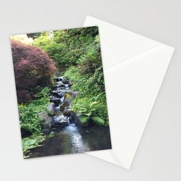 Kubota Garden rock water stream Stationery Cards