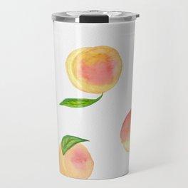Fun Watercolor Peaches Travel Mug
