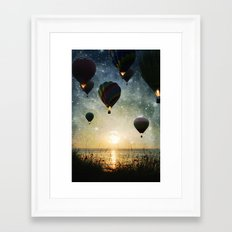 Lighting the night Framed Art Print