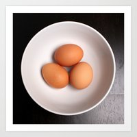 eggs Art Prints featuring Eggs by Amything Goes