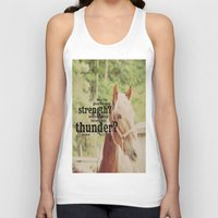 scripture Tank Tops featuring Job 39: 19 Horse Scripture by KimberosePhotography