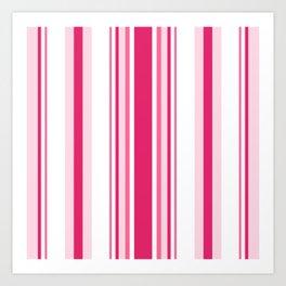 Pink 'alicious Stripes Art Print