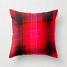 glowing pink twice Throw Pillow