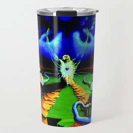 Trippy Psychedelic Surreal Visionary Art by VIncent Monaco - The Battlesoul Travel Mug