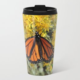 Monarch on Rubber Rabbitbrush Travel Mug
