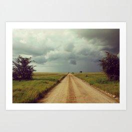 Storm Rolls into the Serengeti Art Print