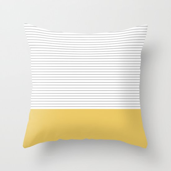 Minimal Gray Stripes - yellow by allyjcat
