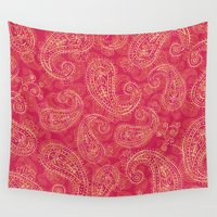 paisley Wall Tapestries featuring Crazy Paisley by Tracie Andrews
