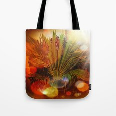 Tropical plants and flowers Tote Bag
