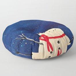 Whimsical Winter Floor Pillow