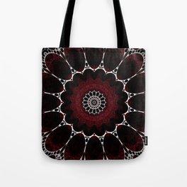 Deep Ruby Red Mandala Design Tote Bag