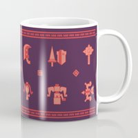 monster hunter Mugs featuring Monster Hunter: Select Your Weapon by KEITHXIII