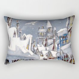 Snowy Hogsmeade Rectangular Pillow