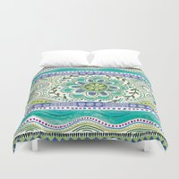 boho Duvet Covers featuring Boho Bloom by Janet Broxon