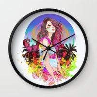 scorpio Wall Clocks featuring Scorpio by Sara Eshak