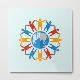 World of people Metal Print