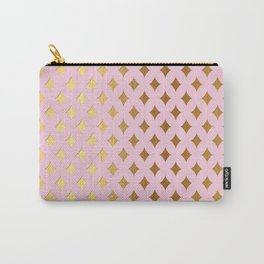 Queenlike - pink and gold elegant quatrefoil ornament pattern Carry-All Pouch