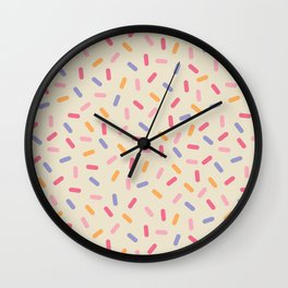 Party Mix Sprinkle Confetti Pattern Wall Clock