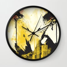 Eagle Eye Watching Wall Clock