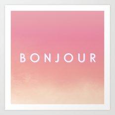 Bonjour II Art Print