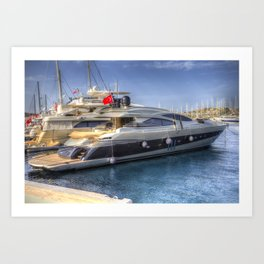 Pershing 90 Yacht Art Print