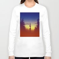 tolkien Long Sleeve T-shirts featuring Wander Night Noise by Stoian Hitrov - Sto